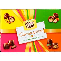 Конфеты Ассорти Alpen Gold Composition из молочного шоколада, 204 г