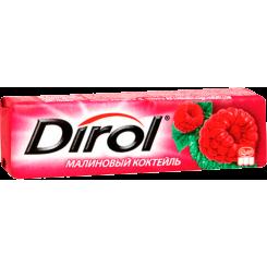 Жевательная резинка без сахара Dirol Малиновый коктейль, 13.6 г