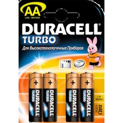 DURACELL батарейки ТУРБО AAx4