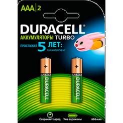 DURACELL аккумуляторные  предзар. AAA HR03 850mAh 2 шт.