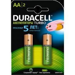 DURACELL аккумуляторные батарейки AAx2 2450mAh