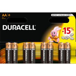 DURACELL батарейки Basic AAAx8
