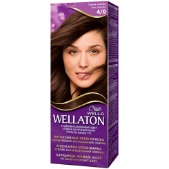 Wellaton Стойкая Крем-краска Темный шоколад 4/0 50 мл
