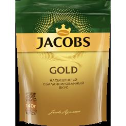Кофе Jacobs GOLD в пакете 140 г