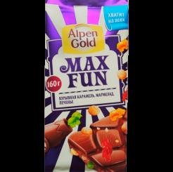 Шоколад Alpen Gold Max Fun, 160 г