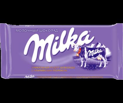 Молочный шоколад Milka (Милка) флоу-пак, 100 г