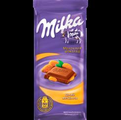 Молочный шоколад Milka с цельным миндалем, 90 г