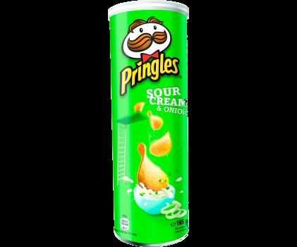 Картофельные чипсы со вкусом сметаны и лука Pringles, 165 г