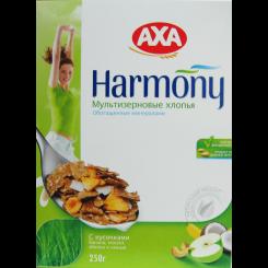 Завтраки AXA Мультизерновые витаминные хлопья с фруками и орехами 250 г