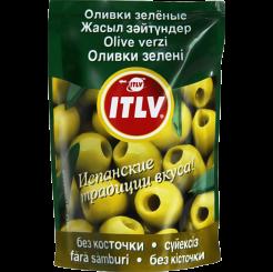 Оливки ITLV зеленые без косточки Doy-pack 195 г