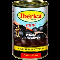 Оливки IBERICA черные с косточкой 370 мл