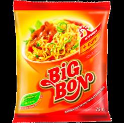 BIGBON Лапша Курица + соус Сальса 75 г