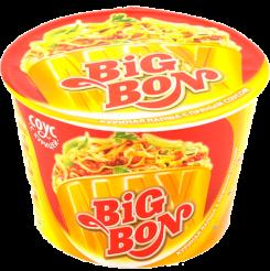 BIGBON Лапша с пряным соусом с курицей 95 г
