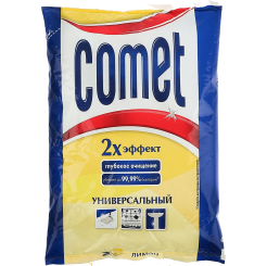 """Порошок чистящий с дезинфицирующими свойствами """"Comet Лимон с хлоринолом Лимон"""" 400 г"""