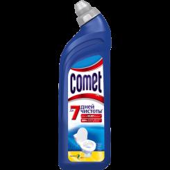 """Средство чистящее для туалета """"Comet Лимон"""": чистящее средство с дезинфицирующими свойствами для чистки, мытья и дезинфекции унитаза 750 мл"""