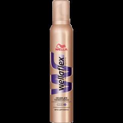Wellaflex объем для тонких волос Мусс для волос с технологией Flexactive суперсильной фиксации 200 мл