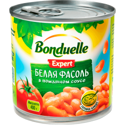 Бондюэль Фасоль Белая в томате 425 мл