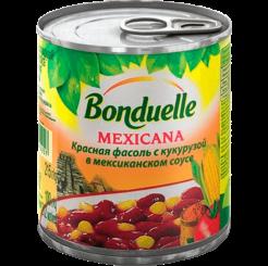 Бондюэль Фасоль красная с кукурузой в мекс соусе 212 мл