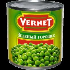 Горошек зеленый консервированный Vernet, 425 мл