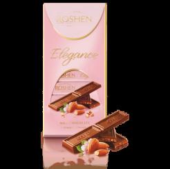 Шоколад Elegance темный молочный дробленный миндаль 100 г
