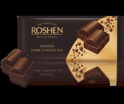 Шоколад ROSHEN пористый экстрачерный 85 г флоу-пак