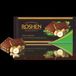 Шоколад ROSHEN экстрачерный с дробленным лесным орехом 90 г