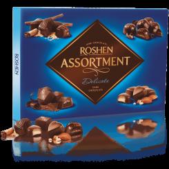 Конфеты ROSHEN assortment delicate черный шоколад 297 г