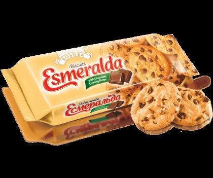 Печенье ROSHEN Esmeralda с кусоками шоколадной глазури 150 г