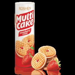 Печенье ROSHEN multi cake c начинкой клубника-крем 195 г