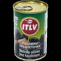 Оливки ITLV черные без косточек 314 мл
