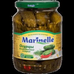 Огурцы Marinelle  деликатесные острые 6-9 см 720 мл