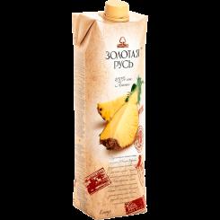 Сок Золотая Русь ананасовый неосветленный 1 л