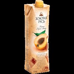 Нектар сок Золотая Русь персиковый с мякотью 1 л
