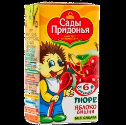 Пюре Сады Придонья яблоко-вишня 125 мл