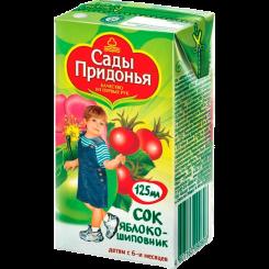 Пюре Сады Придонья яблоко-шиповник 125 мл