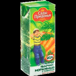 Нектор сок Сады Придонья яблоко-морковный с мякостью 200 мл