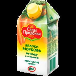 Нектар сок Сады Придонья ябл-морковн с мякотью 0.5 л