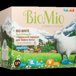 Biomio. Bio-White экологичный стиральный порошок для белого белья с экстрактом хлопка биомио, концентрат, без запаха 1.5 кг