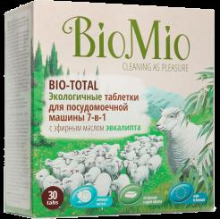 Biomio. Bio-Total экологичные таблетки для посудомоечной машины с эфирным маслом эвкалипта биомио 30х20 г