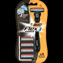 Бритва BIC Flex & Easy с 4 сменными кассетами