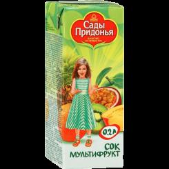 Сок Сады Придонья мультифрукт неосветвленный 125 мл