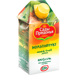 Сок Сады Придонья мультифрукт неосветвленный 0.5 л