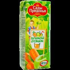 Сок Сады Придонья  морковно-яблочный прямого отжима 200 мл