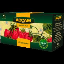 Чай Assam пакетированный со вкусом клубники 25х1.8 г