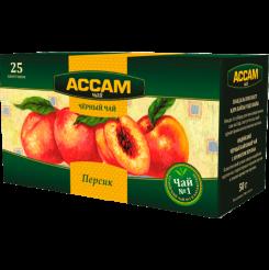 Чай Assam пакетированный со вкусом персика 25х1.8 г