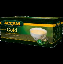 Чай Assam Gold JASMINE GREEN, в пирамидках 20 пакетиков по 1.8 г