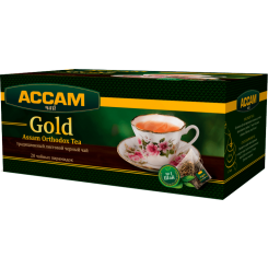 Чай Assam Gold ORTHODOX, в пирамидках 20 пакетиков по 1.8 г