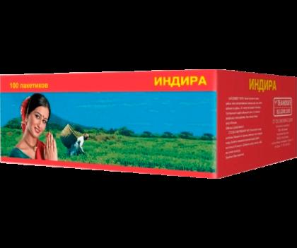 Чай Индира пакетированный 100 пакетиков по 1.8 г