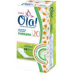 Ежедневные гигиенические прокладки OLA! Daily алоэ и солнечная ромашка, 20 шт.