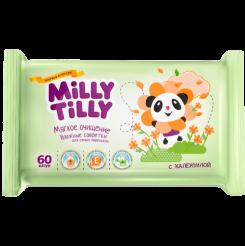 Детские влажные салфетки Milly Tilly Мягкое очищениес календулой, 15 шт.